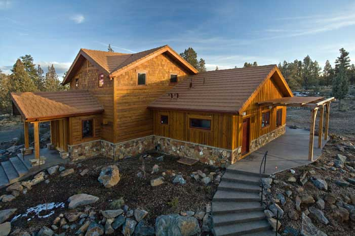 Green Architecture Pacific Crest Timber Frame House Robaid